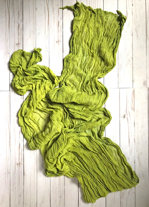 HANDCRAFTED BY MARTHA MCQUADE — Kettle, Hand-dyed Cotton Scarf in Chartreuse
