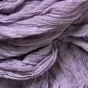 HANDCRAFTED BY MARTHA MCQUADE — Kettle, Hand-dyed Cotton Scarf in Lavender