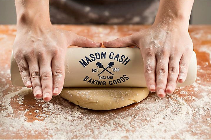 Mason Cash Varsity 3-in-1 Ceramic Rolling Pin and Flour Shaker