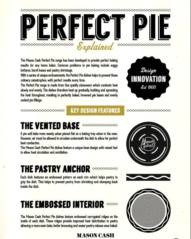 "The Perfect Pie Dish (9.5"" inches) — BY MASON CASH"