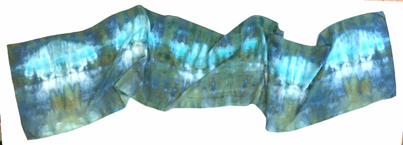 Monet's Garden Silk Scarf — HANDCRAFTED BY GOFORTH DESIGNS