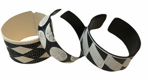 Hand-etched Okavango Recycled PVC Bracelets - Large - Set of 3 — By OMBA Arts Trust
