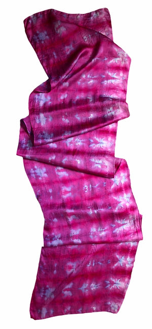 Fuschia Dream Silk Crepe de Chine Scarf — HANDCRAFTED BY JULES GOFORTH