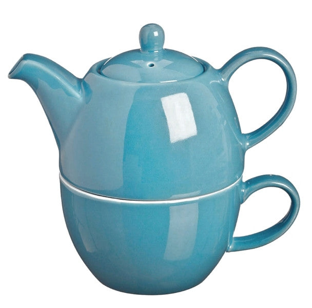 Price & Kensington Bright Blue Tea for One Teapot & Cup