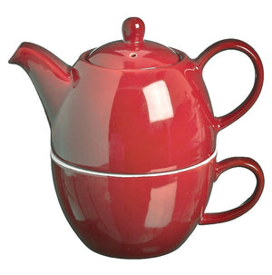 Price & Kensington Bright Red Tea for One Teapot & Cup