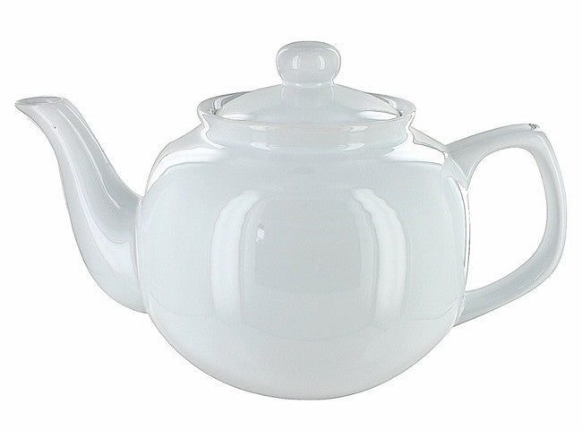 Price & Kensington White Gloss 6-Cup English Teapot