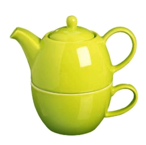 Price & Kensington Bright Green Tea for One Teapot and Cup