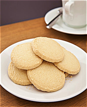 ARTISAN MADE IN SCOTLAND — REID'S OF CAITHNESS ALL-BUTTER SHORTBREAD COOKIES - TALL GIFT TIN - 10.58 ounces / 300 Grams