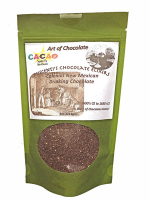 ARTISAN CRAFTED IN SANTA FE — Sciscenti's Chocolate Elixir - Colonial New Mexican Colonial Historic Drinking Chocolate  — Created by Mark Sciscenti for Art of Chocolate