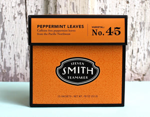ARTISAN CRAFTED IN SEATTLE — PEPPERMINT Leaves - Large Cut - Herbal Infusion/ Tea Sachets, Varietal No. 45 — By SMITH TEAMAKER