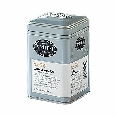 HANDCRAFTED — Steven Smith Teamaker — LORD BERGAMOT Full Leaf, Loose Black Tea — Blend No. 55 — 3 oz. Gift Tin