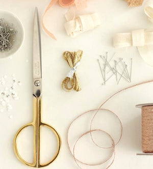 Studio Carta Paper Scissors Plated with 24 karat gold — HANDCRAFTED BY ARTISANS IN ITALY