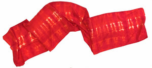 Sunset Red Silk Scarf — HANDCRAFTED BY GOFORTH DESIGNS
