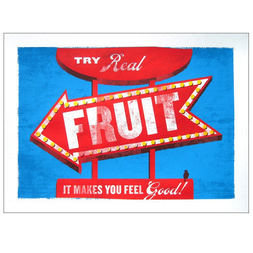 Try Real Fruit Original Limited Edition Art Print