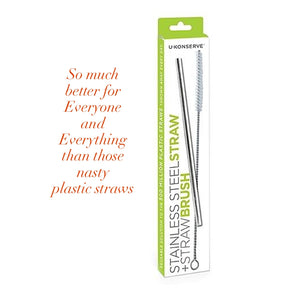U-KONSERVE STAINLESS STEEL STRAW + STRAW BRUSH