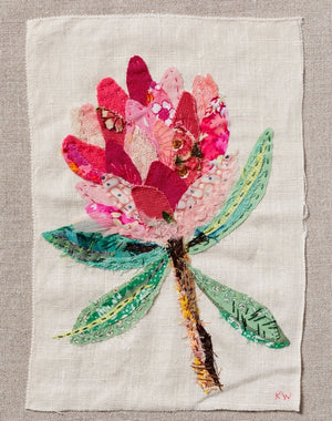 Wattle & Loop Protea Slow Stitching Kit