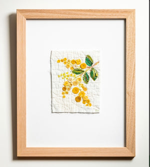 Wattle & Loop Yellow Flowers Slow Stitching Kit