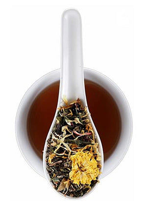 YOGA BLEND - SOOTHING AYURVEDIC HERBS & GREEN TEA — CRAFTED BY THE ARTISANS AT ELMWOOD INN FINE TEAS