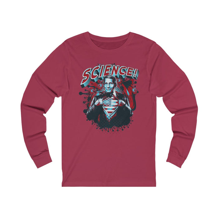 Fauci Science! Awesome Unisex Jersey Long Sleeve Tee