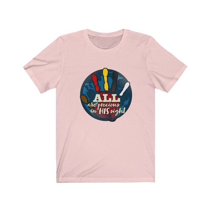 All Are Precious in His Sight (Blue) Unisex Jersey Short Sleeve Tee - Red Bear Brands
