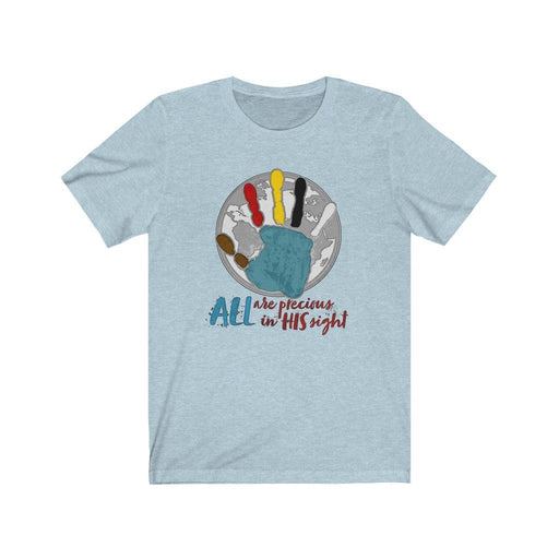 ALL Are Precious in His Sight (Globe) Unisex Jersey Short Sleeve Tee - Red Bear Brands