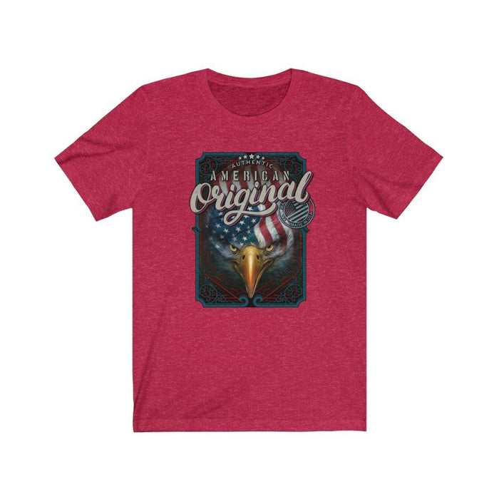 Americana - American Original on Light Unisex Jersey Short Sleeve Tee - Red Bear Brands