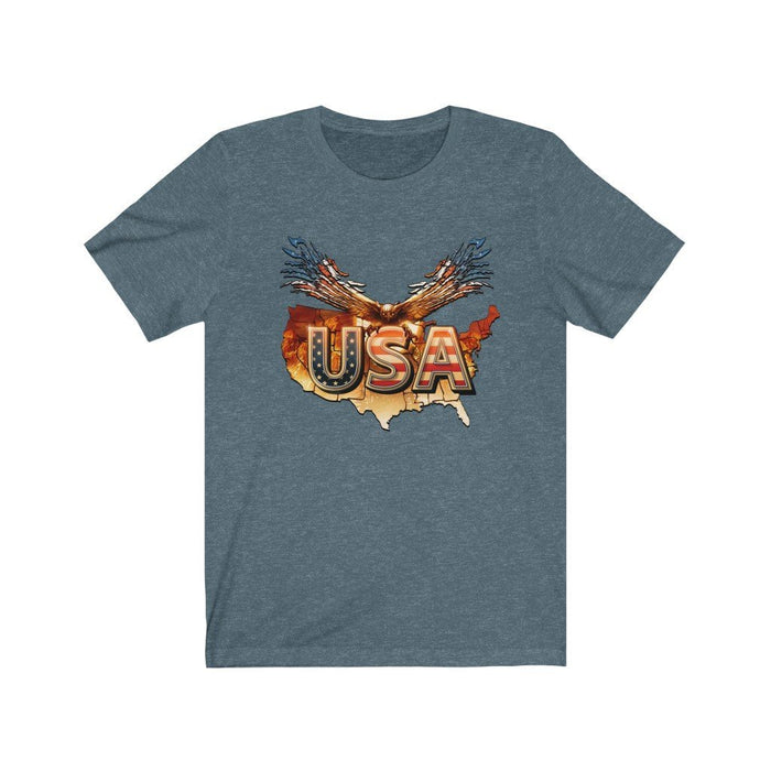 Americana - USA - American Eagle - Unisex Short Sleeve Tee - Red Bear Brands