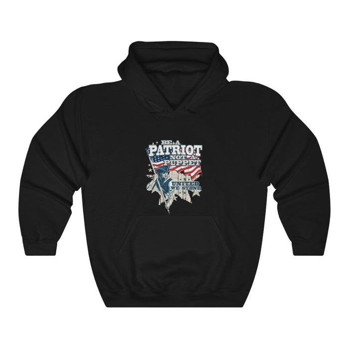 Be a Patriot not a Puppet - Unisex Heavy Blend Hoodie - Red Bear Brands