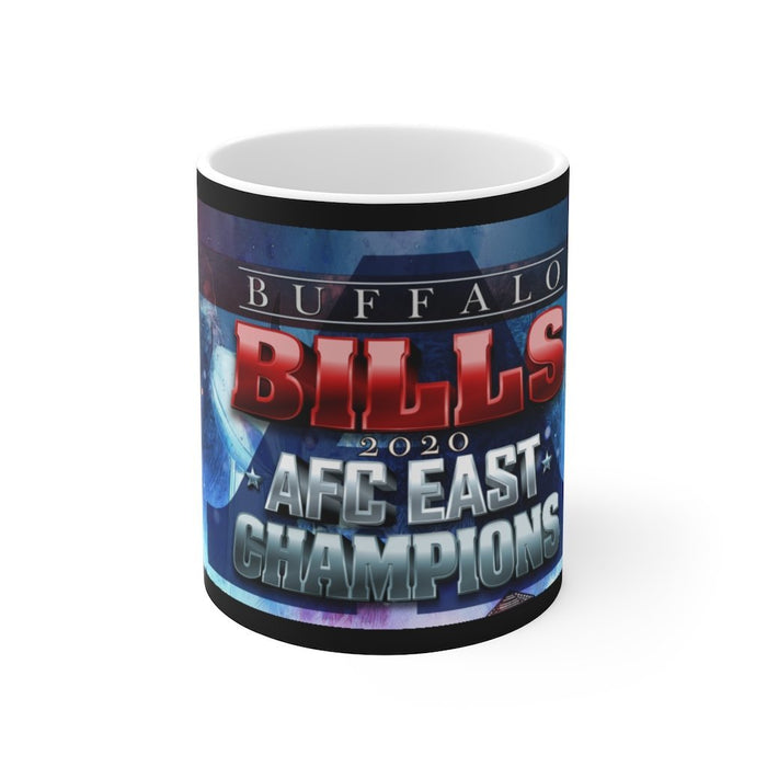 Buffalo Bills | 2020 AFC East Champions | White Ceramic Mug - Red Bear Brands
