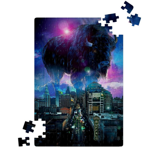 Buffalo New York Skyline Purple Blue Buffalo NY Puzzle - Red Bear Brands