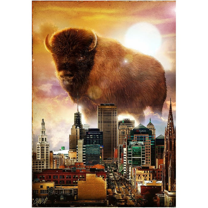 Buffalo, NY Skyline Poster 2020 - Red Bear Brands