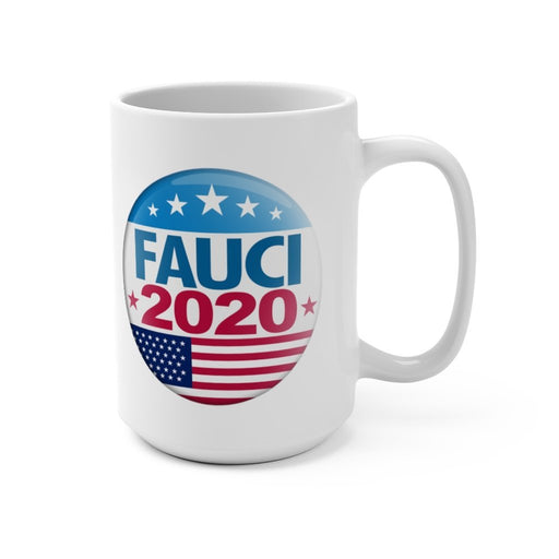 Fauci 2020 Campaign - White Ceramic Mug - Free Shipping - Red Bear Brands