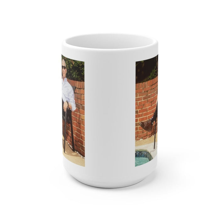 Fauci Poolside | Cool as a Cucumber | White Ceramic Mug - Red Bear Brands