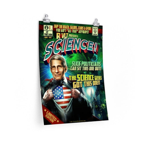 Fauci Science! Poster Art - Red Bear Brands