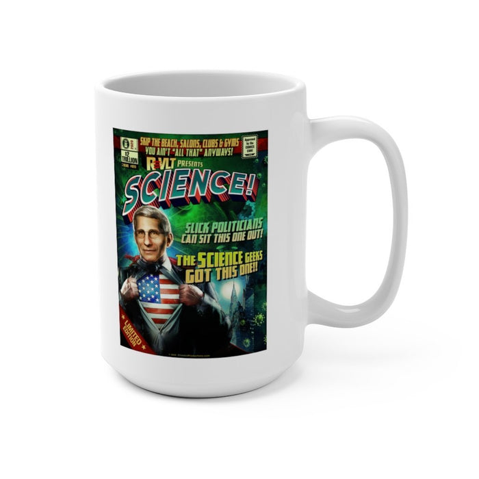 Fauci Science! Poster Art Extra Large Ceramic Mug 15oz - Red Bear Brands