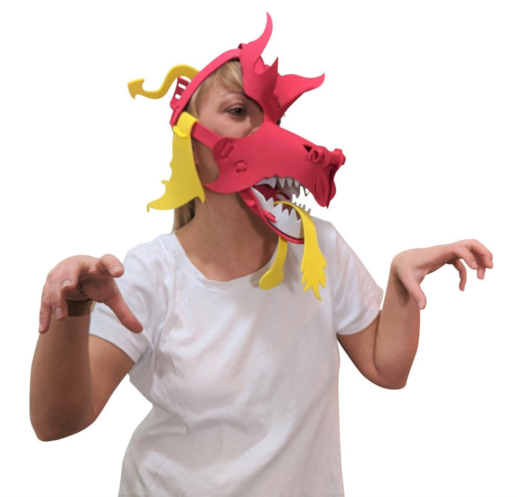 Fun Face Masks - DRAGON (Hand Made, Original Design, Made in America) - Red Bear Brands