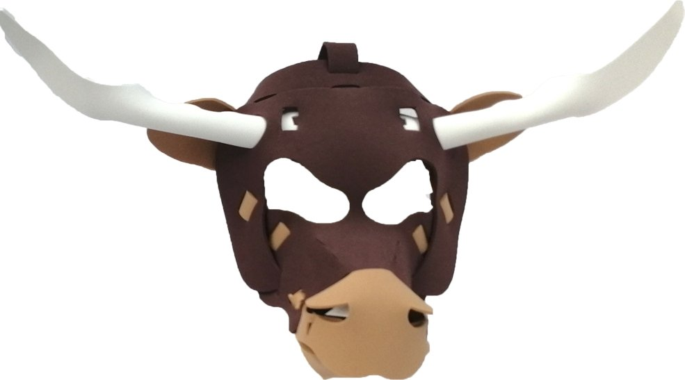 Fun Face Masks - LONGHORN BULL (Hand Made, Original Design, Made in America) - Red Bear Brands