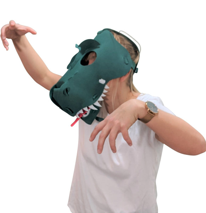 Fun Face Masks - T-REX (Hand Made, Original Design, Made in America) - Red Bear Brands