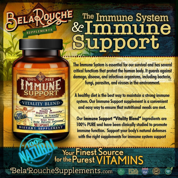 Immune Support | Vitality Blend | Exclusive Daytime Formula | BelaRouche Supplements - Red Bear Brands