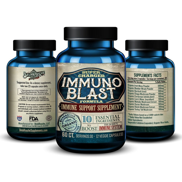 Immuno Blast | Super Charged Immune Support | Exclusive Formula | BelaRouche Supplements - Red Bear Brands