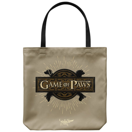 "In Dog Years - Game of Paws - Tote Bag 18"" x 18"" - Red Bear Brands"