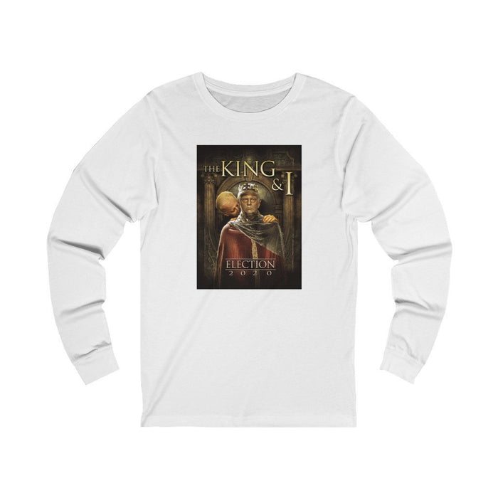 King & I - King Trump and Sir Biden Sniffsalot - Unisex Jersey Long Sleeve Tee - Red Bear Brands
