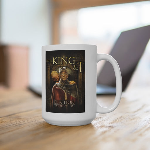 King Trump and Sir Biden Sniffsalot - White Ceramic Mug - Red Bear Brands