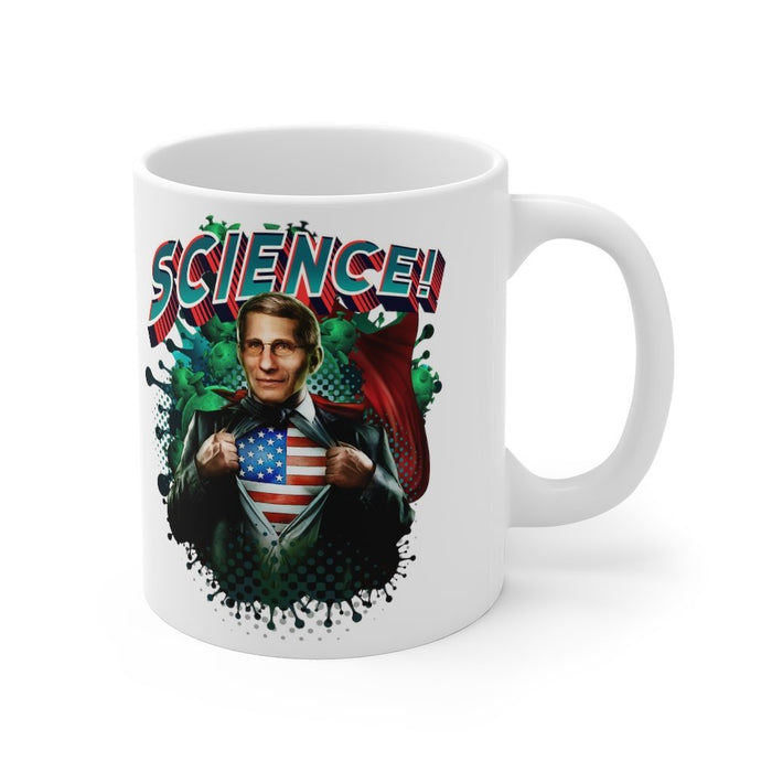 Original Fauci Science! Mug 11oz - Red Bear Brands