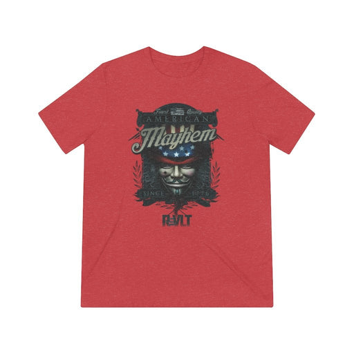 ReVLT - American Mayhem - Incredibly Comfortable and Soft Unisex Triblend Tee - Red Bear Brands