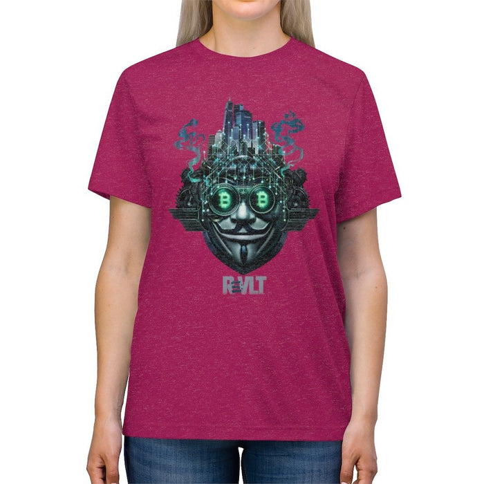 ReVLT - Bitcoin / Metropolis - Incredibly Comfortable and Soft Unisex Triblend Tee - Red Bear Brands