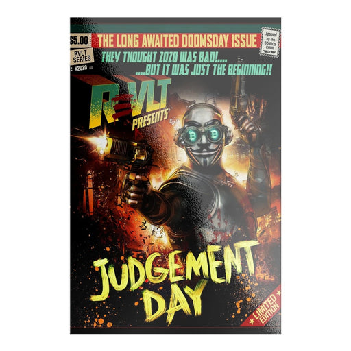 ReVLT Hero Comic Book Poster Art Stickers | Judgement Day - Red Bear Brands