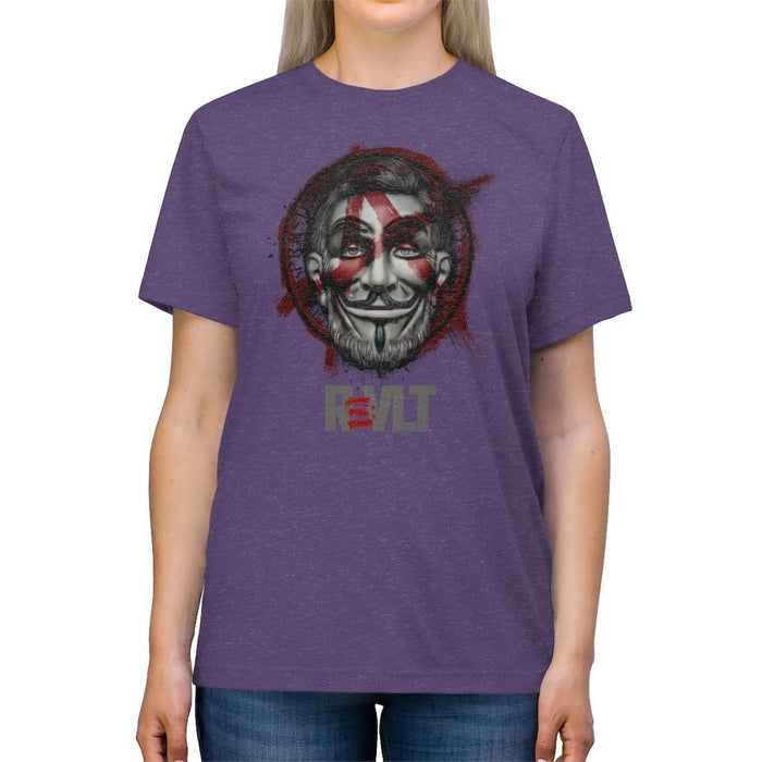 ReVLT - Honest Abe - Incredibly Comfortable and Soft Unisex Triblend Tee - Red Bear Brands
