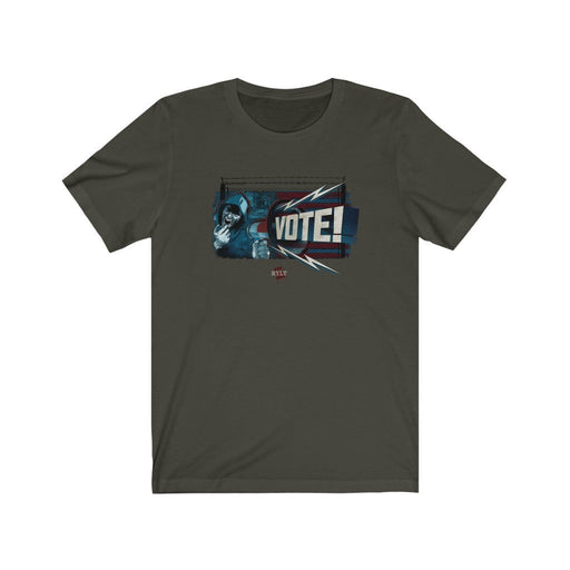 ReVLT | VOTE! | Bullhorn Graphic | Unisex Jersey T-Shirt - Red Bear Brands