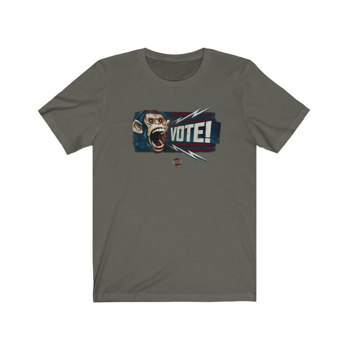 ReVLT | VOTE! | Monkey Graphic | Unisex Short Sleeve Tee - Red Bear Brands